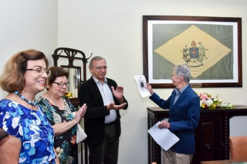 Bandeira do Brasil Imperial em exposição na Sala dos Conselheiros