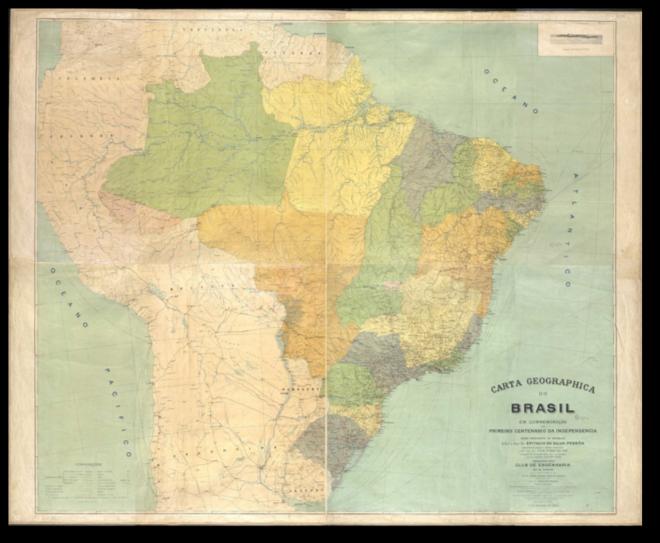 O Clube de Engenharia na confecção da Carta Geográfica do Brasil para a comemoração do 1º Centenário de Independência do Brasil