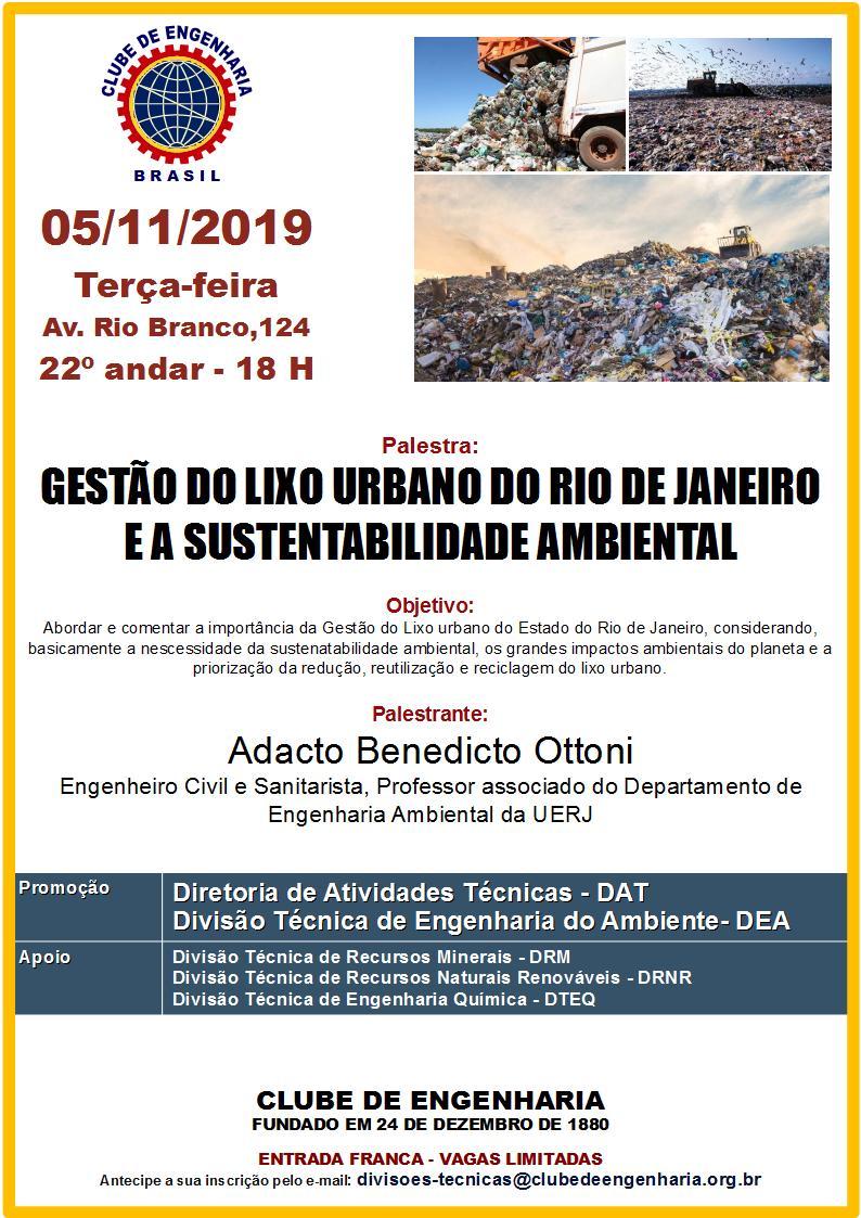 Gestão do lixo urbano do Rio de Janeiro e a sustentabilidade ambiental