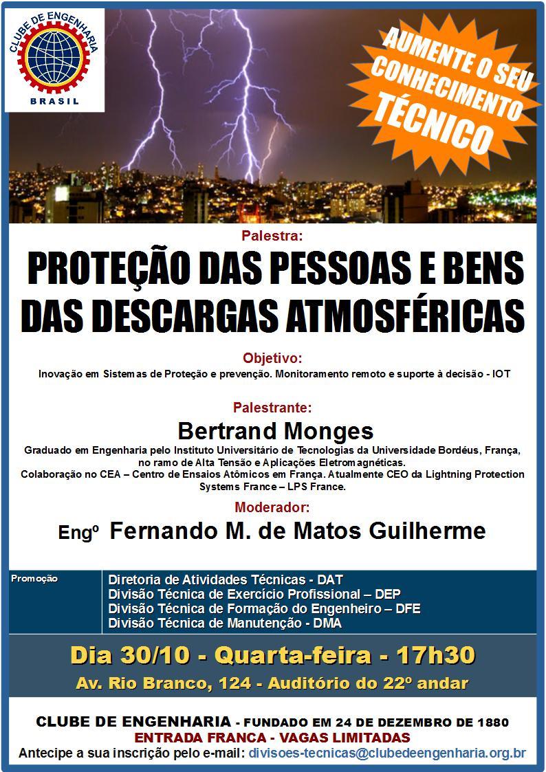 Proteção das pessoas e bens das descargas atmosféricas